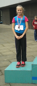 Hannah finishes second in the FVL 800m select match